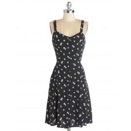 Woodland Confetti Crepe Dressss