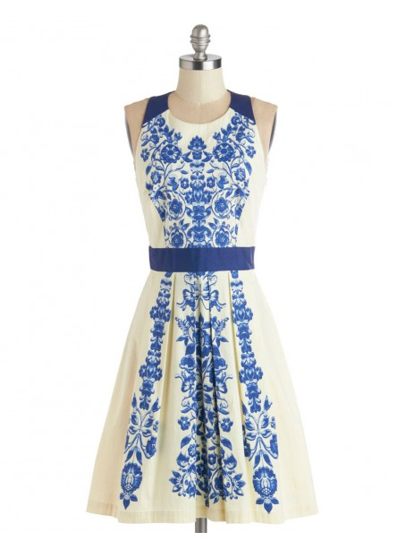 Blousy Bloom Jacquard Dress