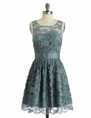 Multi Metallic Jacquard Tabbard Dress